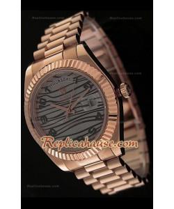 Rolex Daydate Reproducción Reloj Sizo en Oro Rosa - 41MM