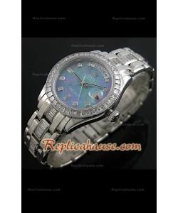 Rolex Daydate Reproducción Reloj Suizo con Esfera Perla Multicolor