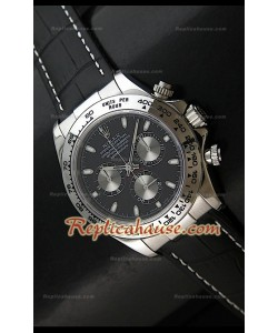 Rolex Daytona Reloj Suizo con Esfera de color Negro y Sub-Esferas Plata