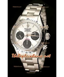 Rolex Cosmógrafo Daytona Ventage 6265 Reloj Suizo con Esfera Blanca