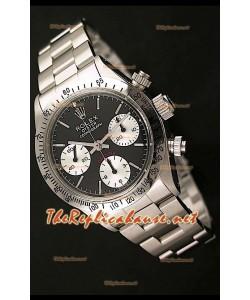 Rolex Cosmógrafo Daytona Ventage 6265 Reloj Suizo con Esfera Negra