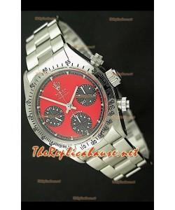 Rolex Cosmógrafo Daytona Ventage 6265 Reloj Suizo con Esfera Roja
