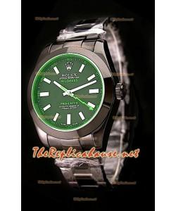 Rolex Pro Hunter Milgauss Reloj Suizo con Zafiro Verde Tintado