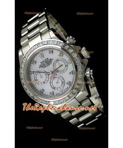 Rolex Daytona Reloj Cosmógrafo con Movimiento Suizo 7750 y Bisel CZ
