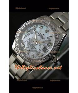 Reloj japonés Rolex Datejust para damas con estuche de 31 mm