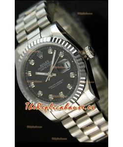 Rolex Réplica Datejust Mens Reloj Suizo Esfera Negra – 41MM