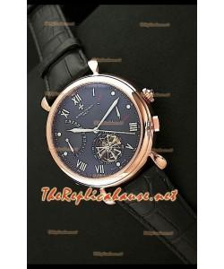 Vacheron Constantin Reloj Calendario de Oro Rosa con Esfera de color Negro