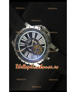 Roger Dubuis Excalibur Tourbillon Reloj con Movimiento Japonés - Dial Negro