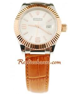 Rolex Datejust Leather Reloj Réplica - 40MM