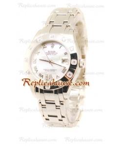 Pearlmaster Datejust Rolex Reloj Japonés en acero inoxidableDial Color Perlado - 34MM
