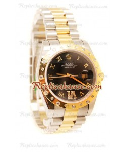 Rolex Réplica Datejust Dos Tonos Reloj