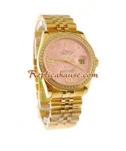 Rolex Suizo Réplica estampado floreado 2011 Edición Datejust Reloj