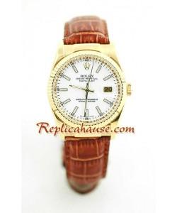 Rolex Réplica Datejust - Leather