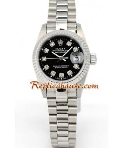 Rolex Réplica Datejust - Silver - Dama -