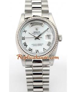 Rolex Réplica Day Date-Silver