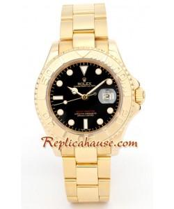 Rolex Yacht Master Gold - Cara Negra
