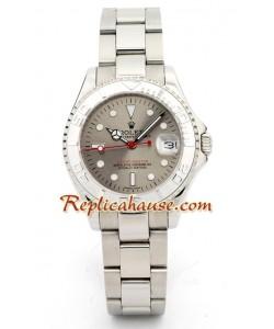 Rolex Réplica Yacht Master Silver - Tamaño Caballeros