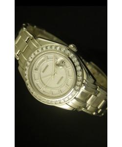 Rolex Day Date Reloj Suizo Caja en Acero Inoxidable