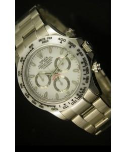 Rolex Daytona Cosmograph Reloj Réplica con Bisel de Cerámica Blanca