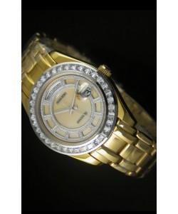 Rolex Day Date Reloj Suizo Caja en Oro Rosado