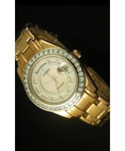 Rolex Day Date Reloj Suizo Caja en Oro Amarillo