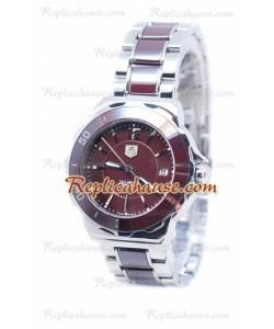 Tag Heuer Formula 1 Quartz Brown Bisel de cerámica Steel Reloj