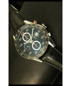 Tag Heuer Carrera Calibre 1887 Reloj Dial Negro - Réplica Escala 1:1