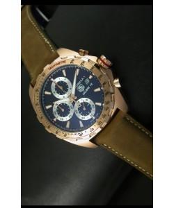Tag Heuer Calibre 16 Reloj Oro Rosado en Dial Negro
