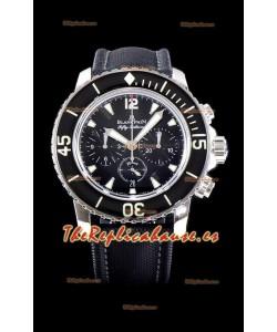 Blancpain Blancpain Fifty Fathoms Chronograph Flyback Reloj Réplica a Espejo 1:1 Color Negro