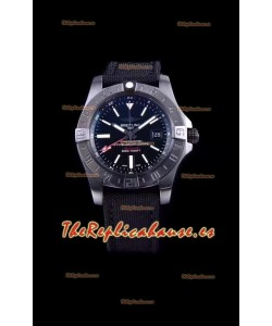 Breitling Avenger II BlackSteel GMT Reloj Réplica Suizo a espejo 1:1 Último