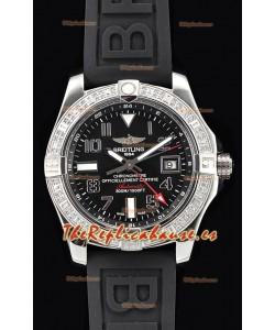 Breitling Avenger Steel GMT Reloj Suizo a Espejo 1:1 Última Edición - Dial Negro