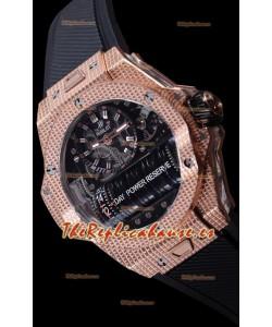 Hublot Big Bang MP-11 Power Reserve 3D Gold Carbon Replica Watch