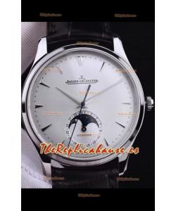 Jaeger LeCoultre Master Ultra Thin Moon Reloj Réplica a Espejo 1:1 Acero Inoxidable