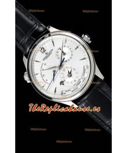 Jaeger LeCoultre Master Geographic Power Reserve Acero 904L Reloj Suizo