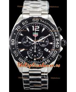 Tag Heuer Formula 1 Chronograph Reloj Réplica de Cuarzo Suizo Dial Negro