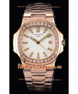 Patek Philippe Nautilus 5711/1R Reloj a Espejo 1:1 - Bisel Diamantes Baguette