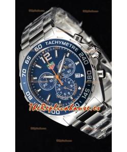 Tag Heuer Formula 1 Chronograph Reloj Réplica de Cuarzo Suizo Dial Azul