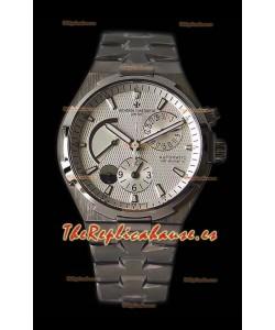 Vacheron Constantin Overseas Dual Time Dial Blanco Reloj Suizo