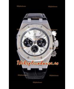 Audemars Piguet Royal Oak Chronograph Dial Blanco Reloj Réplica Espejo 1:1 de Acero 904L