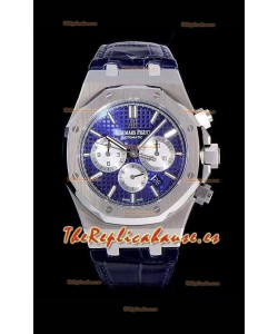 Audemars Piguet Royal Oak Chronograph Dial Azul Reloj Réplica a espejo 1:1 de Acero 904L