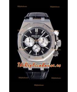 Audemars Piguet Royal Oak Chronograph Dial Negro Reloj Réplica a espejo 1:1 de Acero 904L