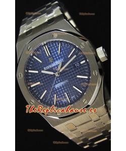 Audemars Piguet Royal Oak 41MM Dial Azul Correa de Acero Steel Strap  - Reloj Réplica a Espejo 1:1 Última Edición
