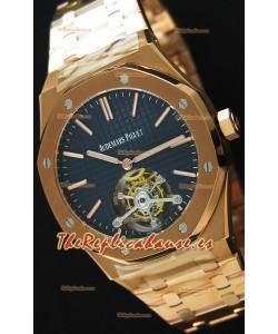 Audemars Piguet Royal Oak Tourbillon 41mm Reloj Extra Fino Dial Azul Oscuro