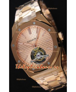 Audemars Piguet Royal Oak Tourbillon 41mm Reloj Extra Fino Dial color Oro Rosado