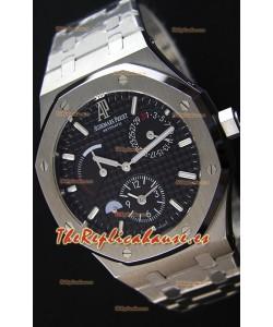 Audemars Piguet Royal Oak Dual Time Reloj Réplica Suizo en Dial Negro