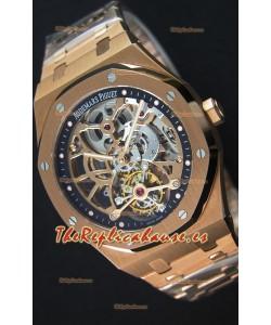 Audemars Piguet Royal Oak Tourbillon Reloj Extra Fino Openworked en Oro Rosado