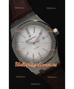 Audemars Piguet Royal Oak 41MM Dial Gris Correa de Piel - Reloj Réplica a Espejo 1:1 Última Edición