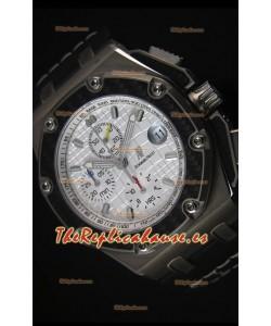 Audemars Piguet Royal Oak Offshore Juan Pablo Montoya Reloj Suizo con Movimiento 3120 Dial Blanco - Replica Espejo