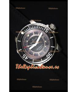 Blancpain 500 Fathoms Reloj Replica Suiza con Dial Gris de Carbon - Edicion Escala Espejo 1:1