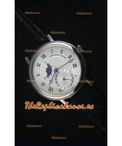 Breguet Classique Moonphase Reloj Replica Suizo de Acero Inoxidable